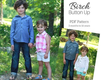 Birch Button Up PDF Pattern