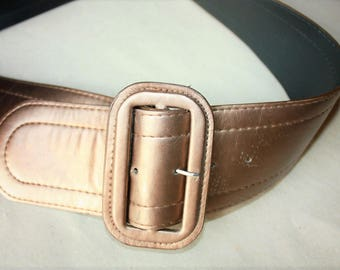 Vintage vegan faux leather Belt ... a Fashionista Statement Piece can fit for M and L and XL