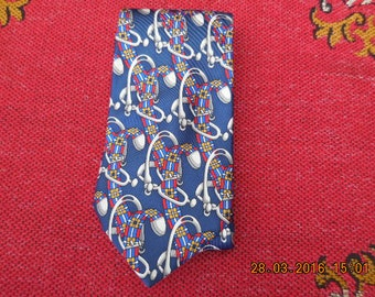 A vintage French silk tie
