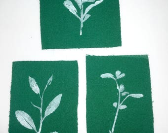 CLEARANCE | Nature | Handmade Sew-On Patches -- Set of 3
