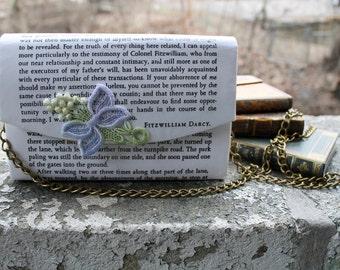 Pride and Prejudice Romantic Literary Decoupage Clutch Purse Handbag