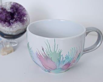 Large Cappuccino Mug, Cute Holiday Gift