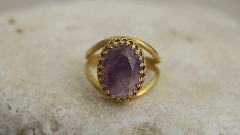 VALENTINES GIFT Gemstone Ring Rings Gold Jewelry Gold