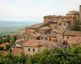 Italy photography, Tuscany print, large wall art, home decor, Italian wall art, Tuscany landscape, Italian architecture, Volterra photo,