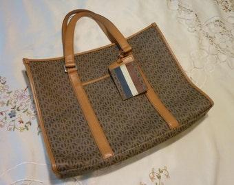 Vintage Ladies Handbag ~ Epi Leather  ~ Shoulder Bag ~ Zipper Closure ~ Tote Style ~ Gift for Her