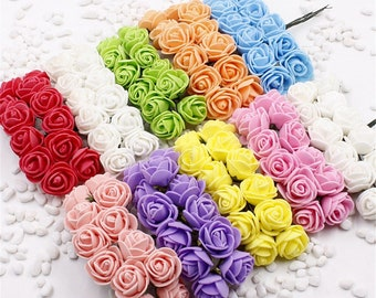 Mini foam roses artificial flowers for weddings and party decor