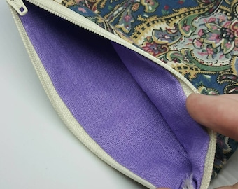 Small Paisley Zipper Pouch