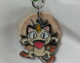 Meowth, Pokemon, child diffuser necklace, diffuser necklace, aromatherapy, necklace for essential oil, kids diffuser necklace, E309