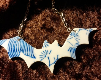 BLUEWARE BAT NECKLACE