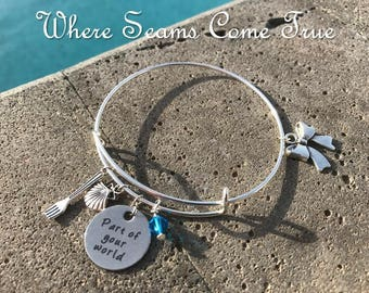 The Little Mermaid Quote Bracelet (Part of Your World)
