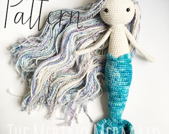 Miriam the Mermaid Crochet Amigurumi Doll Toy Pattern pdf E-book