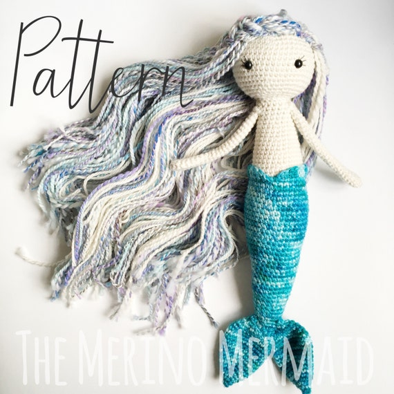 Miriam the Mermaid Crochet Amigurumi Doll Toy Pattern pdf