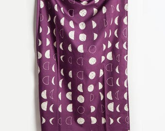 Moon Tea Towel, Moon, Tea Towel, Phases of Moon, Moon Home Decor, Moon, Purple Decor, Kitchen Decor, Berry, Hostess Gift, Gift under Twenty