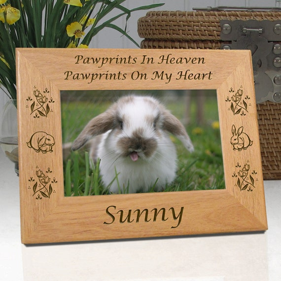 Pet Frames Personalized For Rabbits Pawprints In Heaven