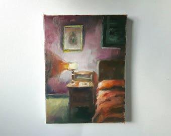 original acrylic painting, boho interior painting, small painting, interior painting, acrylics on canvas, small art