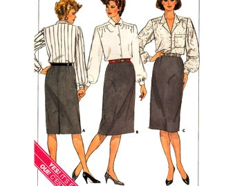 80s Butterick 3471 Straight, Lined, Proportioned, Below Mid-Knee Skirts with Back Zipper, Uncut, Factory Folded, Sewing Pattern Plus Size 18
