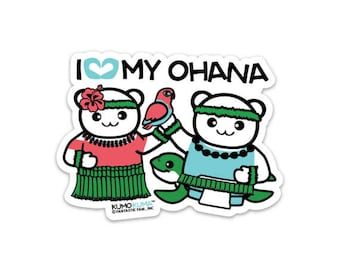 I Love My Ohana Sticker