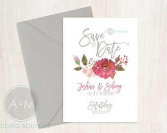 Printable Save The Date, Save The Date, Wedding, Save Our Date, CUSTOMIZED, 5x7