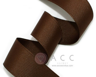 5Yards Brown Solid Grosgrain Ribbon - 5mm(2/8''), 10mm(3/8''), 15mm(5/8''), 25mm(1''), and 40mm(1 1/2'')