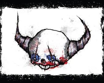 Demon clown color