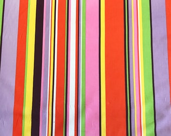GOOD EARTH STRIPE, *Last Yard* Alexander Henry, 100% Cotton Quilting Fabric Apparel, Fabric by the Yard