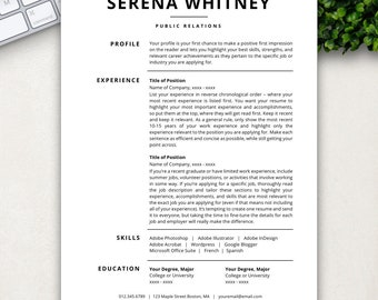 Professional Resume Template | CV Template | Resume Template Word U0026 Pages |  Free Cover Letter