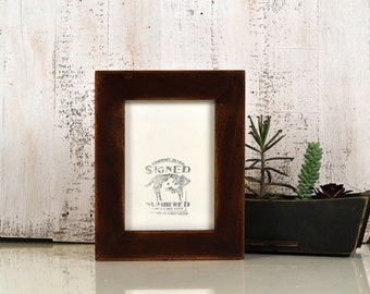 "5x7"" Picture Frame in 1.5 Standard Style with Super Vintage Mahogany Finish - IN STOCK - Same Day Shipping - 5 x 7 Modern Photo Frame Brown"