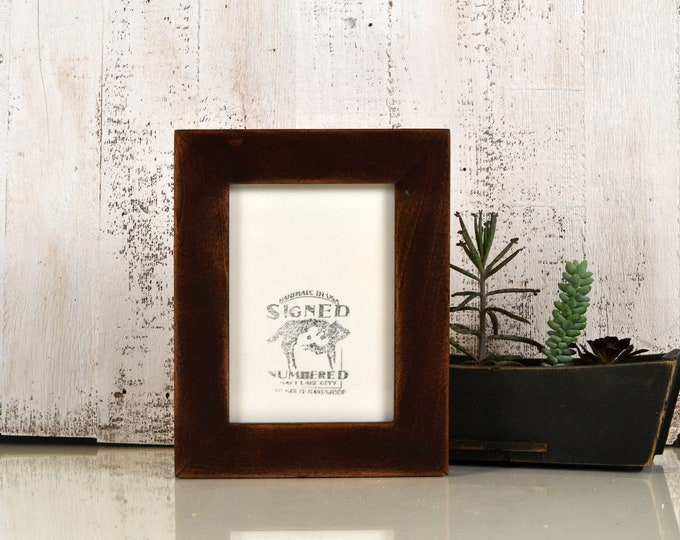 """5x7"""" Picture Frame in 1.5 Standard Style with Super Vintage Mahogany Finish - IN STOCK - Same Day Shipping - 5 x 7 Modern Photo Frame Brown"""