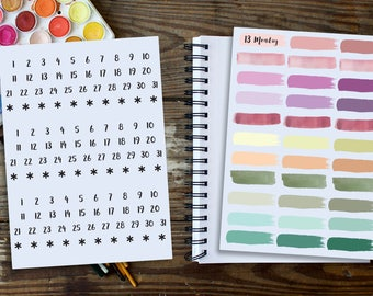 Bullet Journal  Stickers, Sticker Kit, Planner Stickers, Stickers, Watercolor Stickers, Watercolor Planner Stickers, Rainbow stickers,HP kit