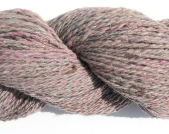 Handspun Alpaca Wool and Sparkle Yarn for Knitting, Felting, Weaving - 210 yards - Worsted Weight