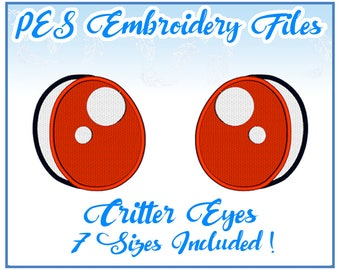 PES Critter Eyes embroidery files Instant Download- more formats available!