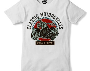 Classic Motorcycle T Shirt, Motorcycle Gifts, Motorbike Card, Motorbike Shirt, Mens T Shirt, Funny Motorcycle Shirt, Mens Clothing | PP149