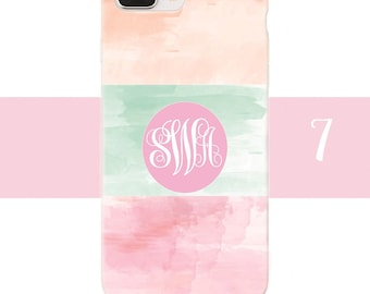 Lilly Pulitzer style iPhone case | Lilly Pulitzer style Samsung case |  Flower iPhone case | Monogram