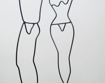 Danish Modern Wire Forms Mannequin Figures Denmark