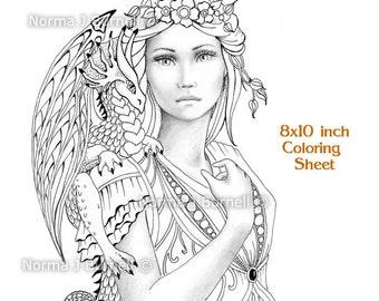 Queen coloring book Etsy