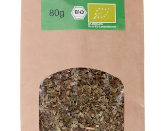 Organic basil dried spices herbs Italian herbs Cooking Basilicum tea Basilico basilic pizza Spice Herb garden, 80g