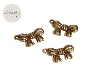 4 bow metal Ribbon beauty B15 23x15mm charms