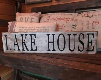 Lake House Wood Sign