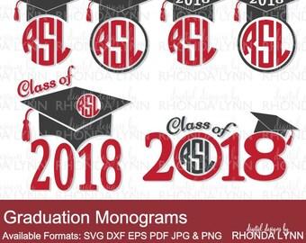SALE! Class of 2018 SVG dxf eps pdf jpg png Cut File | Graduation Cap SVG | Graduation Monogram | Graduation Frames | Graduation svg