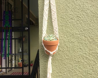 2 ft. Macrame Plant Hanger for Tiny Pot