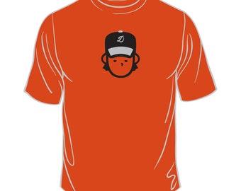 Orange Dude Baseball Tshirt