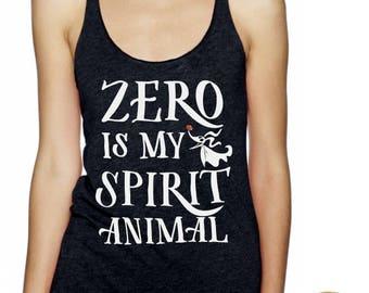 Zero Is My Spirit Animal - Nightmare Before Christmas Inspired Glitter Shirt