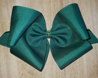 XL Forest Green Hair Bows