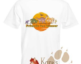 Friends For Dinner - Land Before Time inspired T-shirt