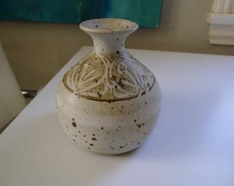 Weedpot Vase Signed Art Pottery, Mid Century Modern, Vintage Pottery