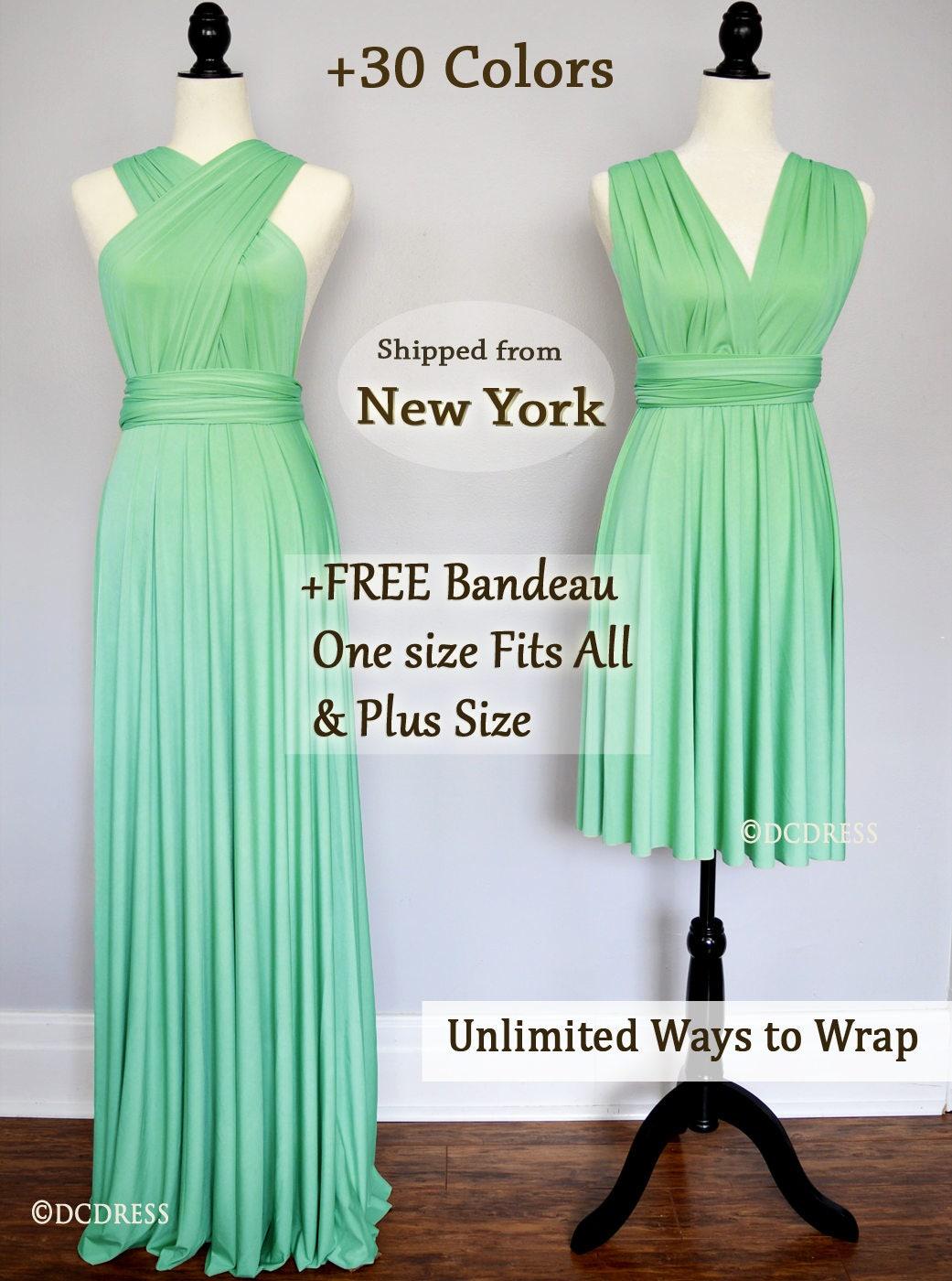 Mint Green Bridesmaid dress infinity dress convertible