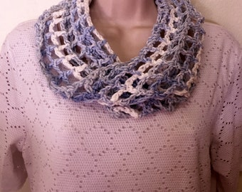 Cotton Mesh Crochet Cowl - Cowl, Scarf, Accessories, Women's Accessories, neck warmer, infinity scarf, mesh scarf, crochet accessories