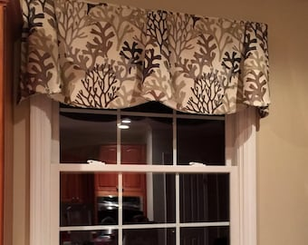 "Made to Order Custom PEYTON Hidden Rod Pocket® Valance to fit 67""- 86"" window, modern window valance, made with your fabrics"