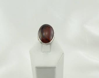 Stunning Orange Swirl Montana Agate Sterling Silver Ring FREE SHIPPING #MONTNA-SR3