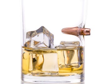 Unique 308 Real Bullet Whiskey Tumbler Drinking Glass Rocks Glasses Scotch Glasses